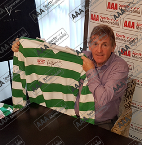 Kenny Dalglish Hand Signed 1976-77 Celtic FA Cup Final Shirt in Deluxe Classic Frame