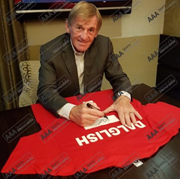 Kenny Dalglish Hand Signed 'DALGLISH #7' Presentation Shirt in Deluxe Classic Frame
