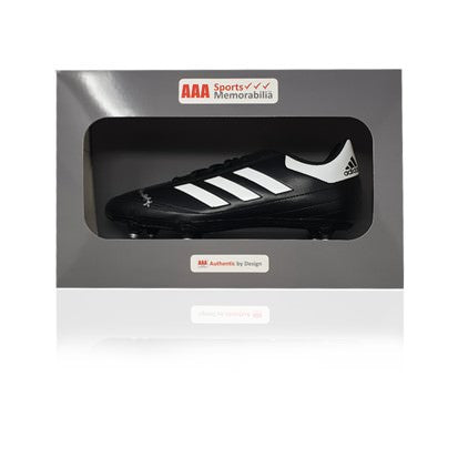 Terry McDermott Hand Signed Adidas Football Boot in AAA Gift Box