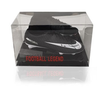 Naby Keita Hand Signed Black Nike Mercurial Football Boot in Acrylic Display Case