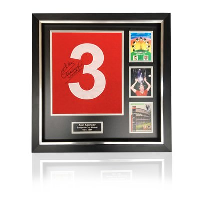 Alan Kennedy Hand Signed #3 'European Cup Winners' Commemorative Presentation in Deluxe Classic Frame