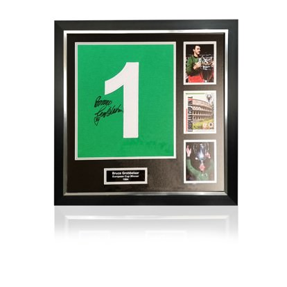 Bruce Grobbelaar Signed #1 'European Cup Winners' Commemorative Presentation in Deluxe Classic Frame