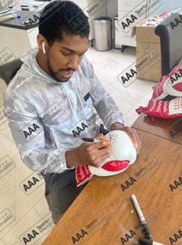 Anthony Joshua Signed 'AJ' White/Red Boxing Glove in Deluxe Classic Dome Frame