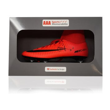 Naby Keita Hand Signed Red Nike Mercurial Football Boot in AAA Sports Gift Box