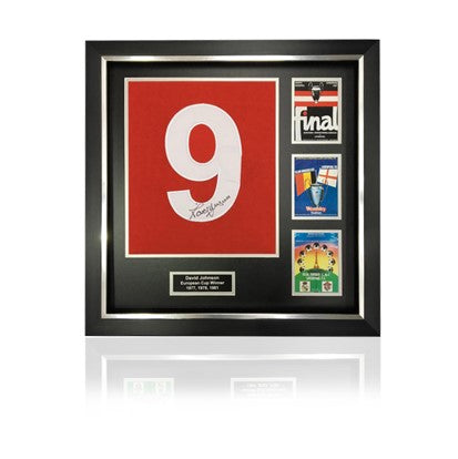 David Johnson Signed #9 'European Cup Winners' Commemorative Presentation in Deluxe Classic Frame