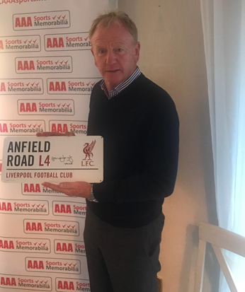 David Fairclough Hand Signed 'Anfield Road' Metal Sign