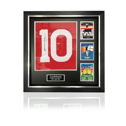 Terry McDermott Signed #10 'European Cup Winners' Commemorative Presentation in Deluxe Classic Frame