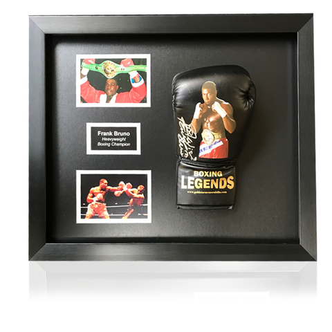 Frank Bruno Hand Signed Legends Boxing Glove in Classic Acrylic Dome Frame