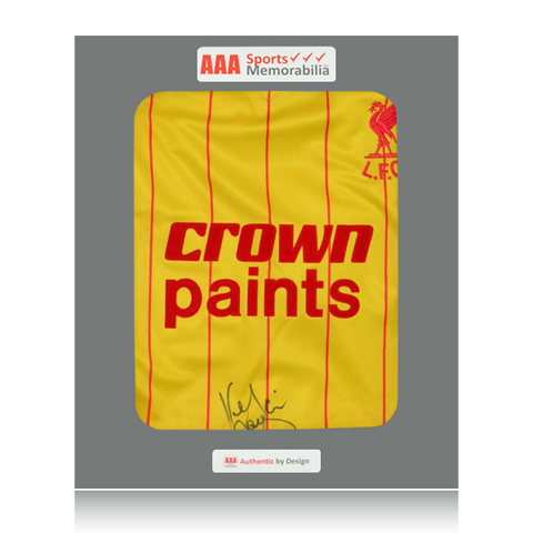 Kenny Dalglish Front Signed Crown Paints 1982 Liverpool Away Shirt