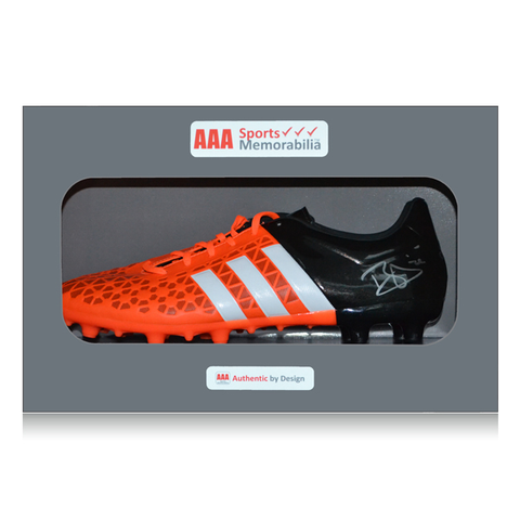 Dele Alli Hand Signed Orange/Black Adidas Football Boot in AAA Gift Box