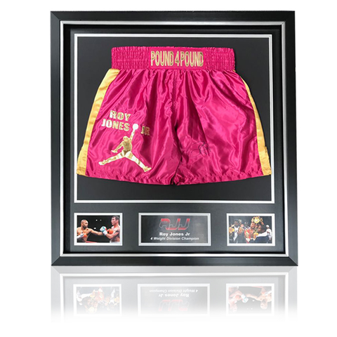 Roy Jones Jr (RJJ) Pink 'Pound4Pound' Boxing Shorts In Classic Deluxe Frame