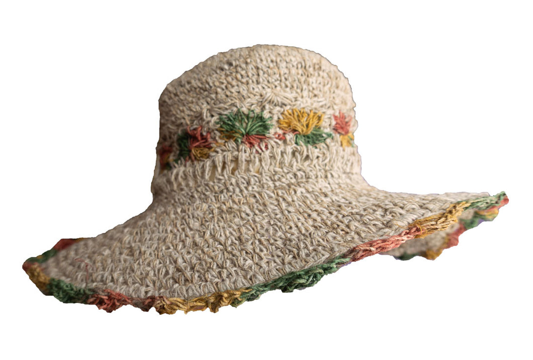 Rasta Flower Large Brim
