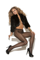 Pantyhose with feather design