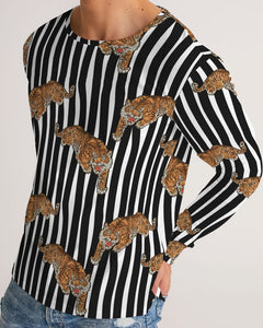 Tiger Print Men's Long Sleeve Tee