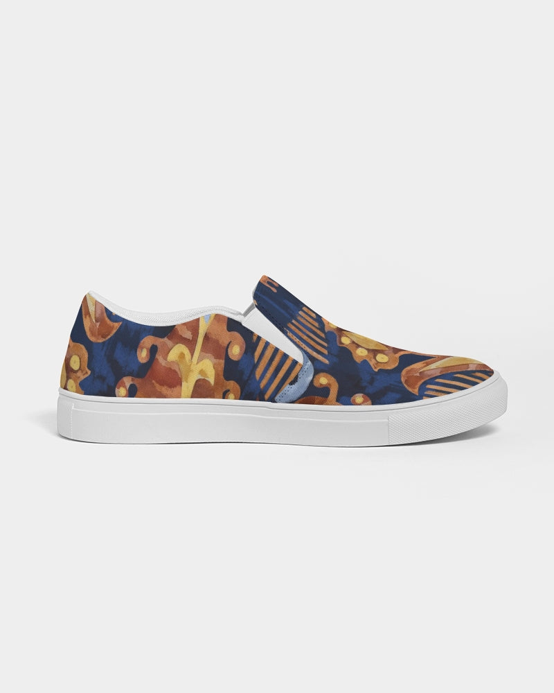 Gold Garden Ikat Men's Slip-On Canvas Shoe