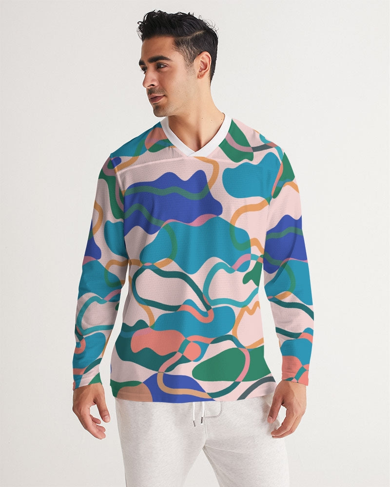 Cotton Candy Men's Long Sleeve Sports Jersey