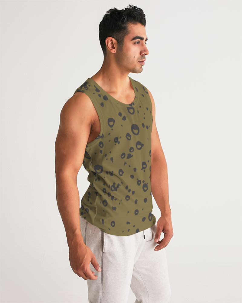 Love Olive Green Men's Sports Tank