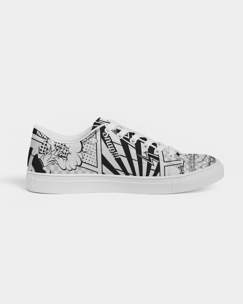 Retro Comic Men's Faux-Leather Sneaker