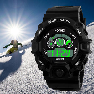 Men Sports Watches Analog Digital Military Army Sport LED Waterproof Wrist Watch  Masculino Brand