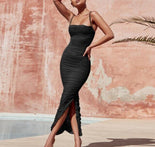 Ship From USA !!!   Women Maxi Mesh Dress  2020 Bodycon Mesh Dress Sexy V Neck Party Dress Clubwear