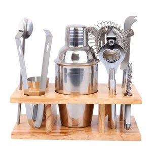 (Ship from USA) Cocktail Shaker Mixer Bar Set Kit Drink Bartender Martini Tools Stainless Steel