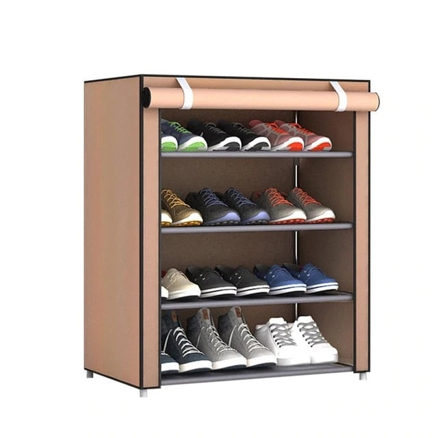 Multi-layer Assembled Shoe Rack Dust-proof Storage Shoe Cabinet Home Shoe Stand Dormitory Simple Storage Shelf Organizer Holder