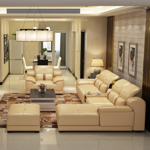2020 new dubai furniture  sectional luxury and modern corner leather living room arab l shaped  sofa design and prices set