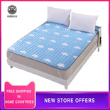 Breathable Polyester Fiber Mattress Foldable Floor Tatami Single Double Student Mattress Topper Suitable for student dormitory