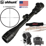 SHIP FROM USA ohhunt 4-16x40 AOEG Hunting Optical Sight Mil Dot Reticle Red Greed Illuminated 25.4mm Tube Tactical Rifle Scope