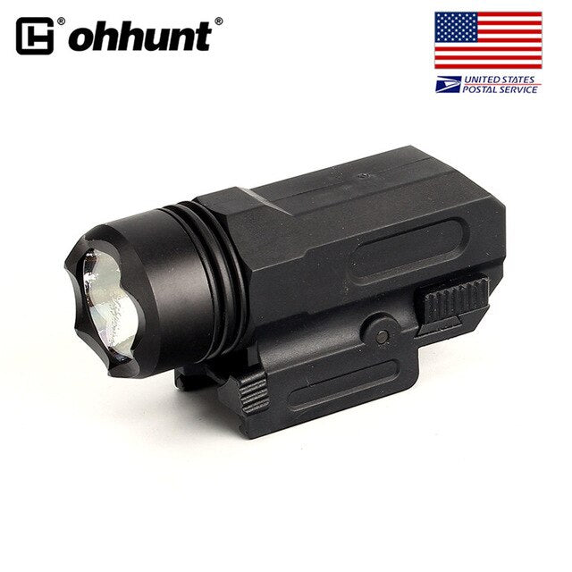 SHIP FROM USA ohhunt 150 Lumens White Light Tactical LED Flashlight Quick Release Weaver Picatinny Mount Nylon Material