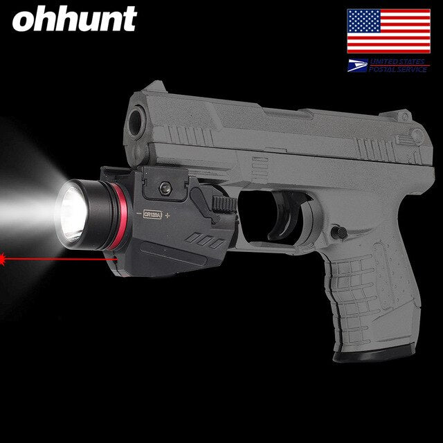 SHIP FROM USA ohhunt Red  Laser Sight LED Flashlight Integrated Combo Nylon Material for Weaver Picatinny Rail Mount