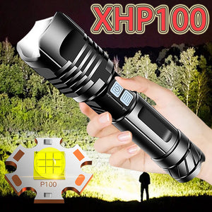 Super Bright Xhp100 Powerful Led Flashlight Torch Xhp90 Tactical Flashlight Usb Rechargeable Flash Light 18650 Xhp70 Led Lantern