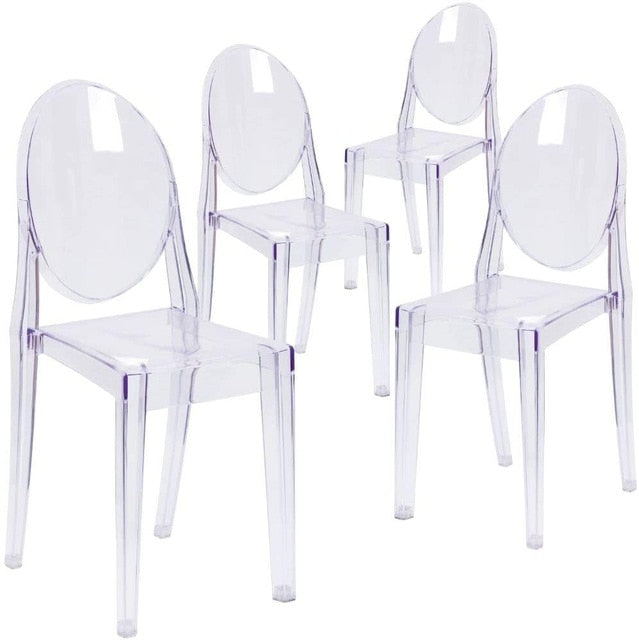 Nordic Dining Chairs Transparent Ghost Chair Makeup Dressing Chair Modern Dining Chairs Set for Kitchen Garden Indoor Outdoor
