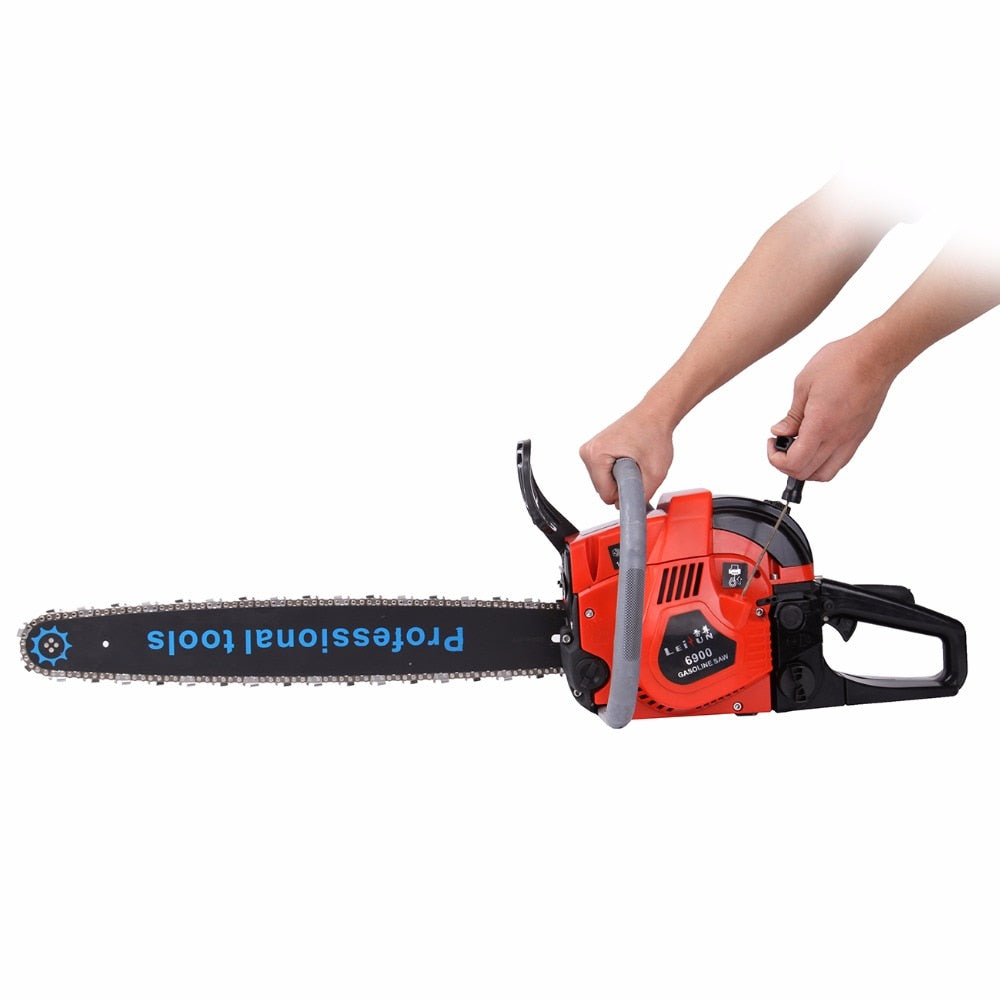 (Ship from USA) 52cc Gas Powered Chainsaw Wood Cutting Chain Saw Aluminum Crankcase Heavy Duty 22