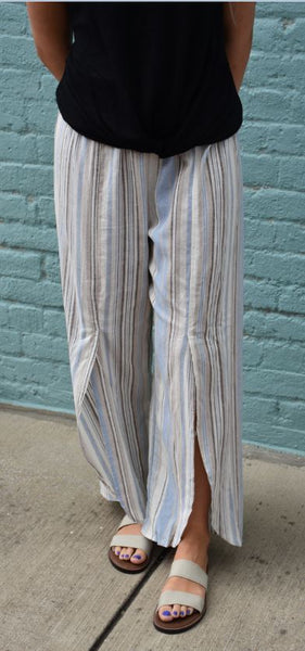 Linen Envelope Stripe Pants