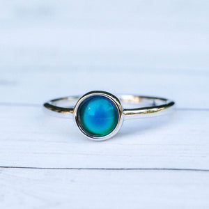 Open image in slideshow, Mood Ring Silver