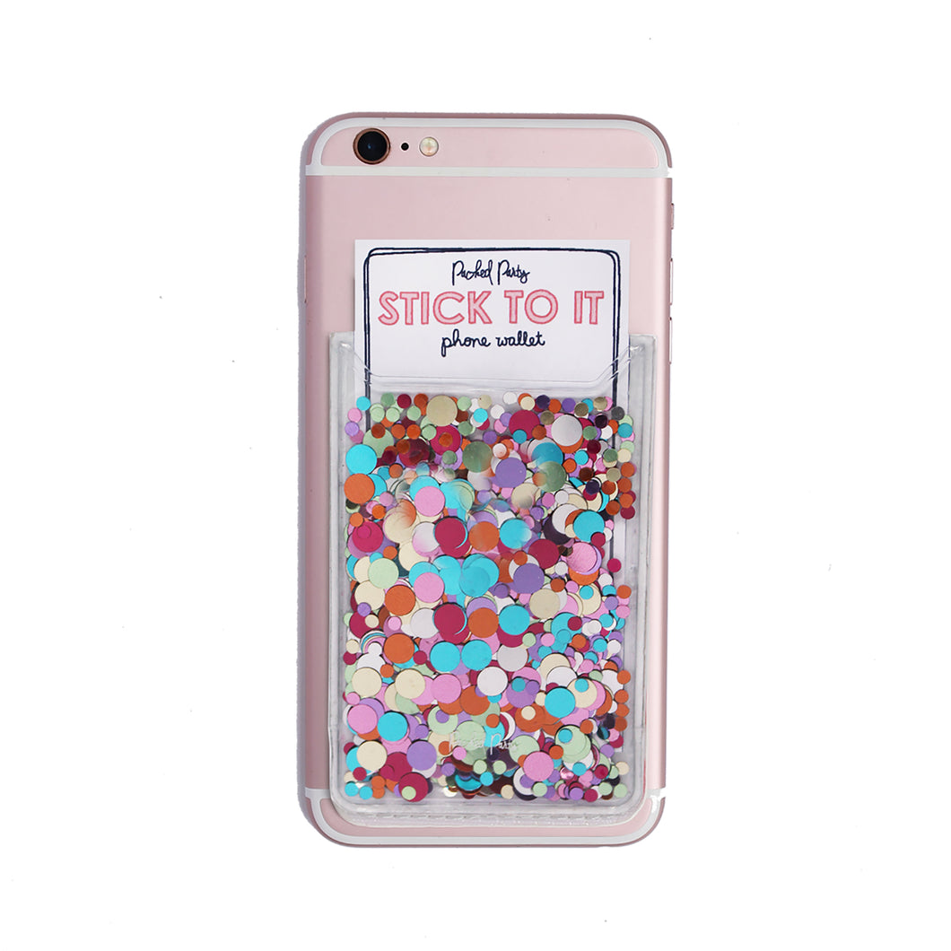 Stick To It Confetti Phone Card Holder