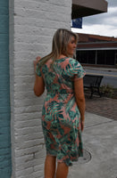 Tropical Paradise Print Dress