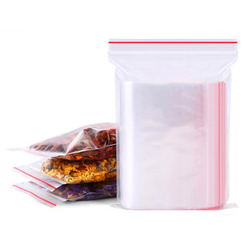 100pcs Ziplock Bag Ziplock Bag Transparent Small Food Storage Bag Re-sealable Jewelry - mbrbproducts