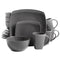 Gibson Home Soho Lounge Square Stoneware 16-piece Dinnerware Set - mbrbproducts
