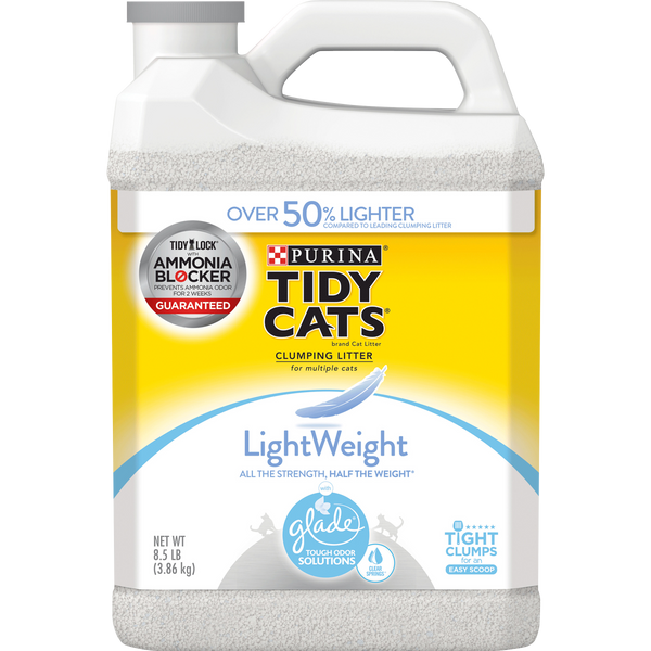Purina Tidy Cats Light Weight, Clear Springs Multi Cat Litter, 8.5 lb. Jug - mbrbproducts