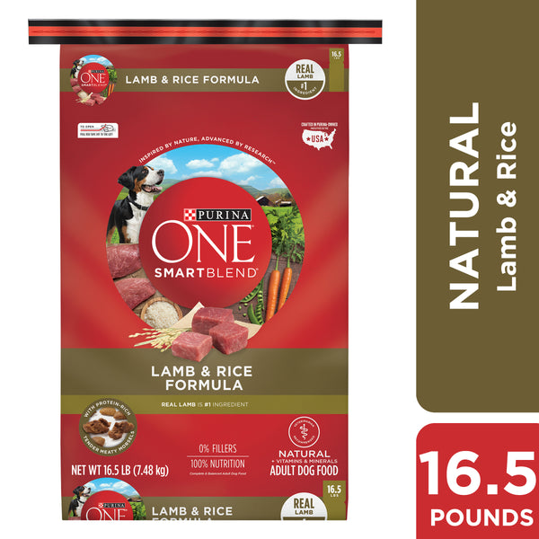 Purina ONE Natural Dry Dog Food, 16.5 lb. Bag - mbrbproducts