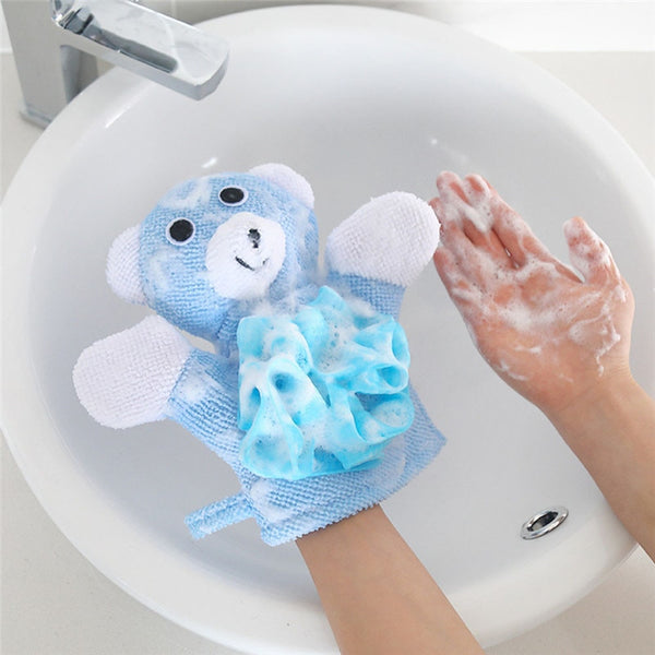 1 Pc Compound Cotton Children Soft Bath Rub Gloves Shower Body Wash Puff Mesh Net Ball Bathroom Daily - mbrbproducts