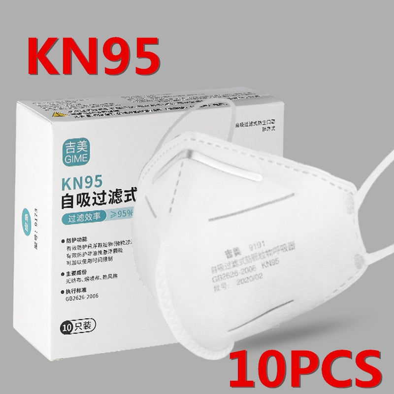 10PCS N95 4 Layers Mask Flu Anti Infection KN95 Mouth Masks Protective Face Mask Same as KF94 FFP2 Fast Shipping Within 24 hours - mbrbproducts