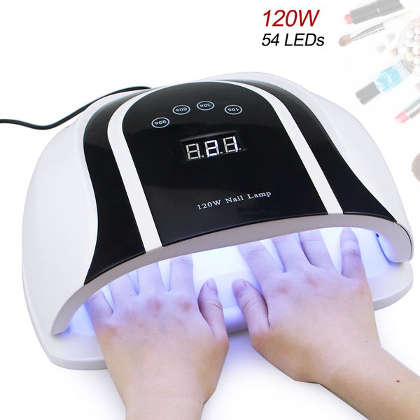 120W UV LED Lamp For Nails Dryer Two Hand Ice Lamp 54 LEDS For Manicure Gel Nail Lamp Drying - mbrbproducts