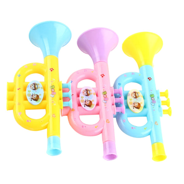 1Pc Plastic Trumpet Musical Instruments For Children Baby Kids Musical Toys Music Trumpet Hooter Baby 2020 - mbrbproducts