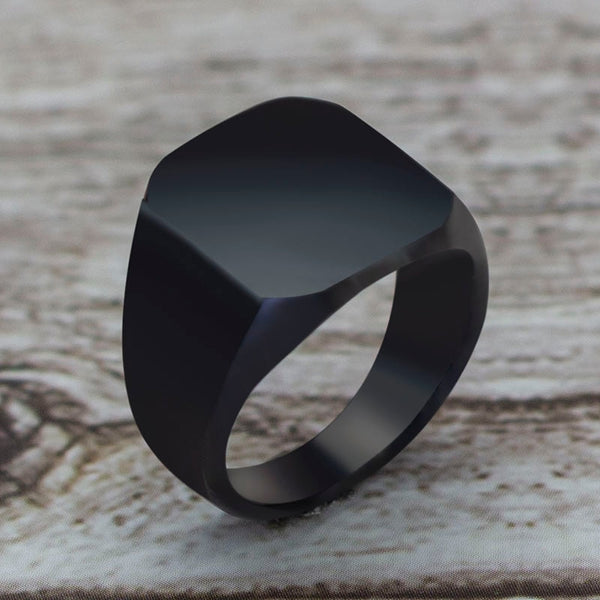 2020 Fashion Simple Style Black Square Ring Classic Ring Wedding Engagement Jewelry 2020 - mbrbproducts
