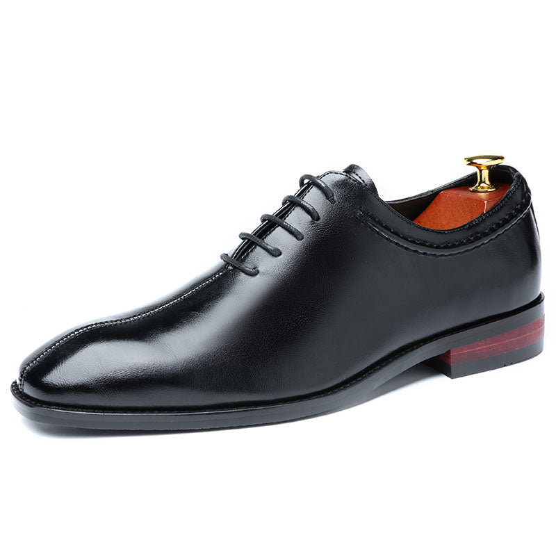 Men Dress Shoes Designer Business Office Lace-Up Loafers Men's Flat Party Leather Shoes 3 Color 2020 - mbrbproducts