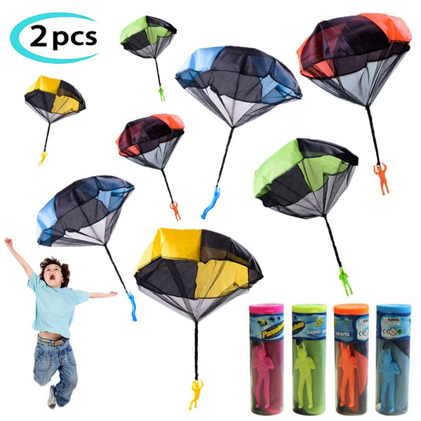 2pcs Hand Throw Soldier Parachute Toys Indoor Outdoor Games for Kids 2020 - mbrbproducts