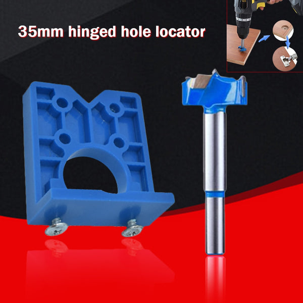 35mm W/ Hinge Drill DIY Tool Door Cabinets Hole Locator Template Accurate Woodworking Hinge Drilling 2020 - mbrbproducts